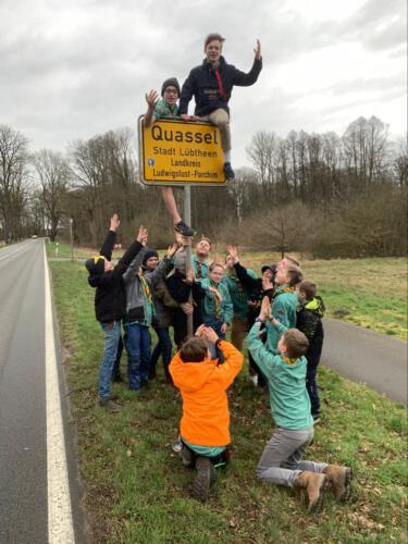 Jungssipppentour nach Quassel, Februar 2020